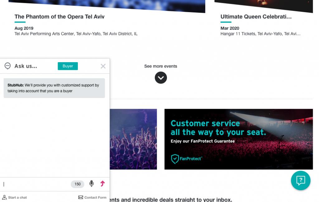 Stubhub customer support live chat
