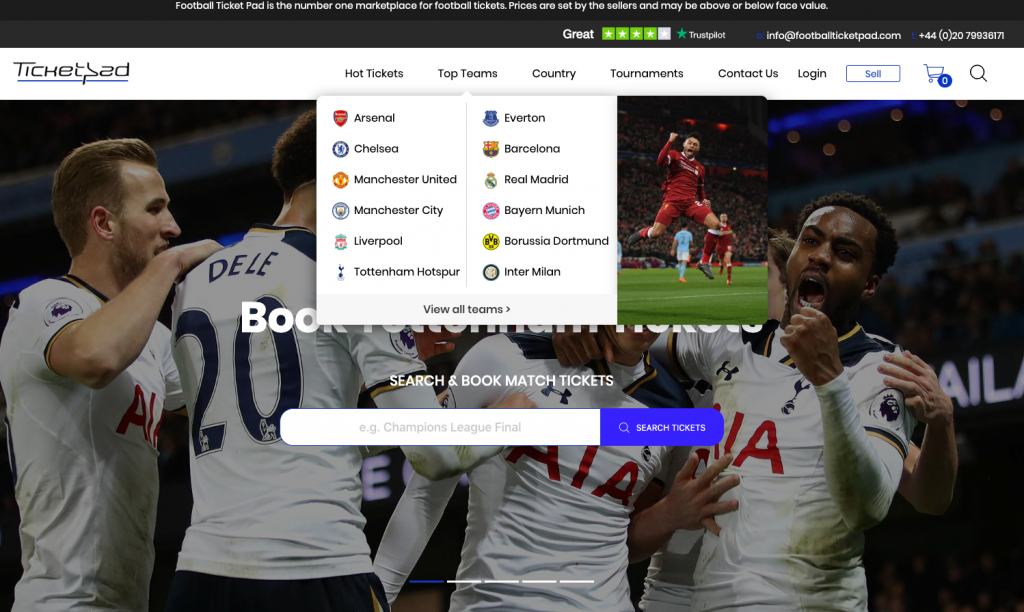 Footballticketpad -navigation-review