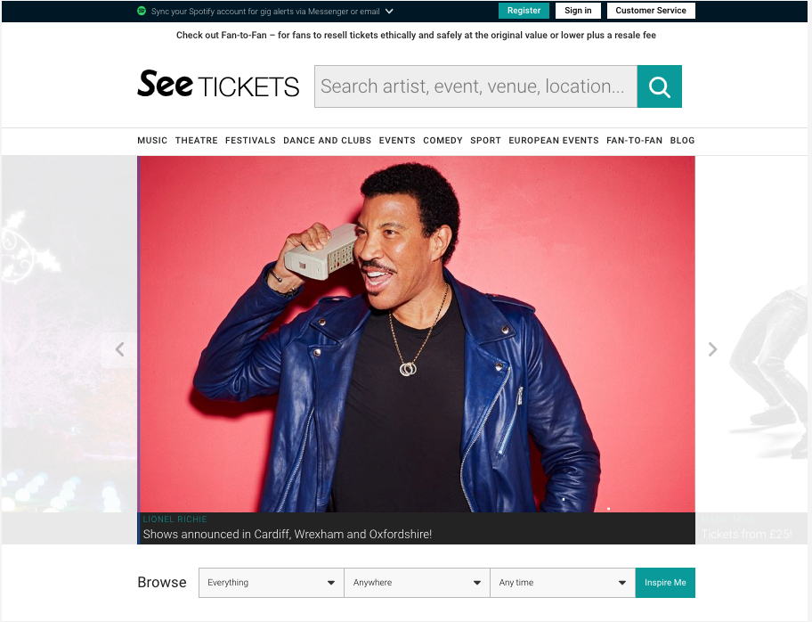 See Tickets Homepage - SeatPick Review